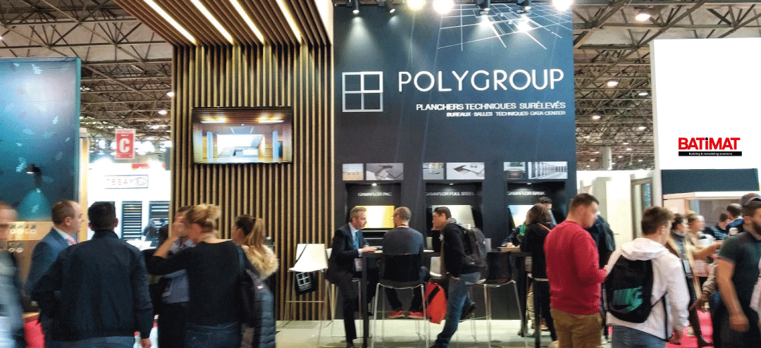 pavimentos elevados polygroup en batimat paris 2019